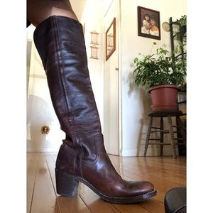 Authentic over the knee Frye boots